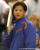 Florida volleyball assistant coach Ken Ko calls out a play during the Gators' 3-0 win against the Colorado Buffaloes on Saturday, August 29, 2009 at the Stephen C. O'Connell Center in Gainesville, Fla / Gator Country photo by Tim Casey