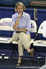 Florida volleyball head coach Mary Wise watches from the bench during the Gators' 3-0 win against the Colorado Buffaloes on Saturday, August 29, 2009 at the Stephen C. O'Connell Center in Gainesville, Fla / Gator Country photo by Tim Casey