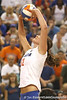 Florida sophomore setter/right-side hitter Kelly Murphy sets the ball during the Gators' 3-0 win against the Colorado Buffaloes on Saturday, August 29, 2009 at the Stephen C. O'Connell Center in Gainesville, Fla / Gator Country photo by Tim Casey