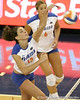 Florida sophomore setter/right-side hitter Kelly Murphy makes an attack during the Gators' 3-0 win against the Colorado Buffaloes on Saturday, August 29, 2009 at the Stephen C. O'Connell Center in Gainesville, Fla / Gator Country photo by Tim Casey