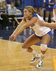 Florida redshirt sophomore outside hitter Kristy Jaeckel prepares to make a dig during the Gators' 3-0 win against the Colorado Buffaloes on Saturday, August 29, 2009 at the Stephen C. O'Connell Center in Gainesville, Fla / Gator Country photo by Tim Casey