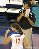 Florida volleyball assistant coach Ken Ko gives instructions during the Gators' 3-0 win against the Colorado Buffaloes on Saturday, August 29, 2009 at the Stephen C. O'Connell Center in Gainesville, Fla / Gator Country photo by Tim Casey