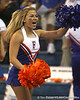 UF cheerleaders perform during the Gators' 3-0 win against the Colorado Buffaloes on Saturday, August 29, 2009 at the Stephen C. O'Connell Center in Gainesville, Fla / Gator Country photo by Tim Casey