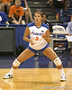 Florida junior setter Brynja Rodgers gets in position during the Gators' 3-0 win against the Colorado Buffaloes on Saturday, August 29, 2009 at the Stephen C. O'Connell Center in Gainesville, Fla / Gator Country photo by Tim Casey