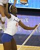 Florida redshirt senior outside hitter Kristina Johnson makes an attack during the Gators' 3-0 win against the Colorado Buffaloes on Saturday, August 29, 2009 at the Stephen C. O'Connell Center in Gainesville, Fla / Gator Country photo by Tim Casey