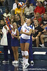 Florida junior setter Brynja Rodgers serves to begin the Gators' 3-0 win against the Colorado Buffaloes on Saturday, August 29, 2009 at the Stephen C. O'Connell Center in Gainesville, Fla / Gator Country photo by Tim Casey