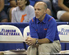 Florida volleyball associate head coach Nick Cheronis watches during the Gators' 3-0 win against the Colorado Buffaloes on Saturday, August 29, 2009 at the Stephen C. O'Connell Center in Gainesville, Fla / Gator Country photo by Tim Casey