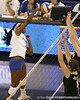 Florida sophomore middle blocker Cassandra Anderson makes an attack during the Gators' 3-0 win against the Colorado Buffaloes on Saturday, August 29, 2009 at the Stephen C. O'Connell Center in Gainesville, Fla / Gator Country photo by Tim Casey