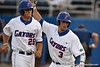Florida sophomore catcher Mike Zunino thanks junior right fielder Preston Tucker for driving him home during the Gators' 4-1 victory over the University of North Florida Ospreys on Wednesday, May 11, 2011 at McKethan Stadium in Gainesville, Fla. / photo by Rob Foldy