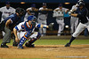 Florida junior catcher Ben McMahan snags a strike during the Gators' 4-1 victory over the University of North Florida Ospreys on Wednesday, May 11, 2011 at McKethan Stadium in Gainesville, Fla. / photo by Rob Foldy