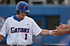Florida senior Bryson Smith getting congratulated by his teammates after scoring during the Gators' 4-1 victory over the University of North Florida Ospreys on Wednesday, May 11, 2011 at McKethan Stadium in Gainesville, Fla. / photo by Rob Foldy