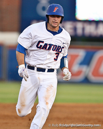 Florida sophomore catcher Mike Zunino steals third base during the Gators' 4-1 victory over the University of North Florida Ospreys on Wednesday, May 11, 2011 at McKethan Stadium in Gainesville, Fla. / photo by Rob Foldy