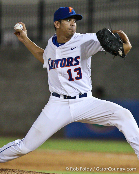 Florida junior pitcher Tommy Toledo delivers a pitch during the Gators' 4-1 victory over the University of North Florida Ospreys on Wednesday, May 11, 2011 at McKethan Stadium in Gainesville, Fla. / photo by Rob Foldy