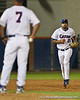 Florida senior pitcher Matt Campbell runs onto the field during the Gators' 4-1 victory over the University of North Florida Ospreys on Wednesday, May 11, 2011 at McKethan Stadium in Gainesville, Fla. / photo by Rob Foldy