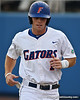 Florida senior Bryson Smith trots back to the dugout after scoring during the Gators' 4-1 victory over the University of North Florida Ospreys on Wednesday, May 11, 2011 at McKethan Stadium in Gainesville, Fla. / photo by Rob Foldy