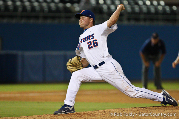 Florida junior pitcher Nick Maronde delivers a pitch during the Gators' 4-1 victory over the University of North Florida Ospreys on Wednesday, May 11, 2011 at McKethan Stadium in Gainesville, Fla. / photo by Rob Foldy