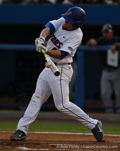 Florida sophomore shortstop Nolan Fontana connects with the ball during the Gators' 4-1 victory over the University of North Florida Ospreys on Wednesday, May 11, 2011 at McKethan Stadium in Gainesville, Fla. / photo by Rob Foldy