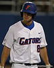 Florida junior outfielder Daniel Pigott retunes to the dugout after striking out during the Gators' 4-1 victory over the University of North Florida Ospreys on Wednesday, May 11, 2011 at McKethan Stadium in Gainesville, Fla. / photo by Rob Foldy