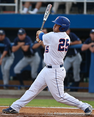 Florida junior right fielder Preston Tucker follows through with a swing during the Gators' 4-1 victory over the University of North Florida Ospreys on Wednesday, May 11, 2011 at McKethan Stadium in Gainesville, Fla. / photo by Rob Foldy