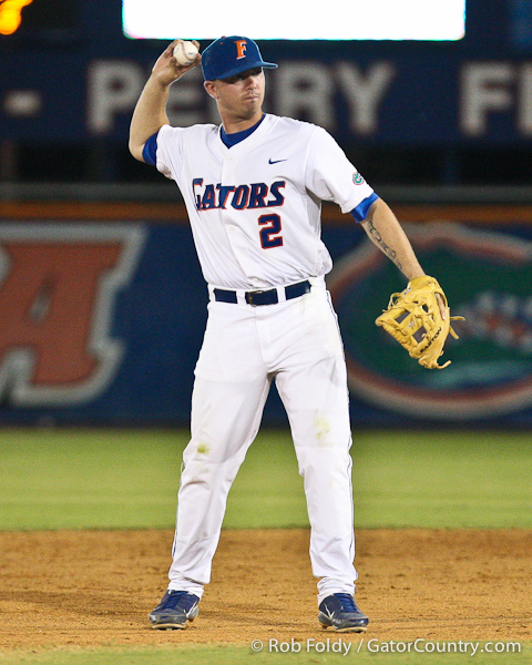 Florida senior Josh Adams throws the ball during the Gators' 4-1 victory over the University of North Florida Ospreys on Wednesday, May 11, 2011 at McKethan Stadium in Gainesville, Fla. / photo by Rob Foldy