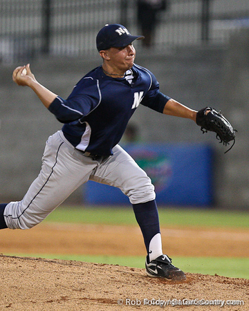 UNF junior pitcher Chandler Jagodzinski delivers a pitch during the Gators' 4-1 victory over the University of North Florida Ospreys on Wednesday, May 11, 2011 at McKethan Stadium in Gainesville, Fla. / photo by Rob Foldy