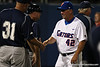 Florida baseball assistant coach Brad Weitzel shakes hands with UNF coaches after the Gators' 4-1 victory over the University of North Florida Ospreys on Wednesday, May 11, 2011 at McKethan Stadium in Gainesville, Fla. / photo by Rob Foldy
