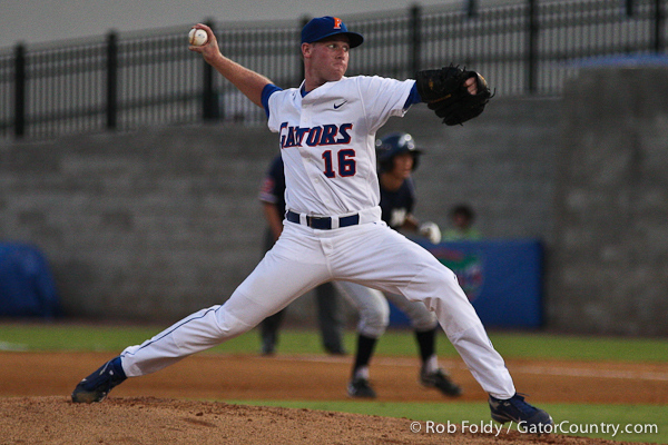 Florida junior pitcher Anthony DeSclafani delivering a pitch during the Gators' 4-1 victory over the University of North Florida Ospreys on Wednesday, May 11, 2011 at McKethan Stadium in Gainesville, Fla. / photo by Rob Foldy