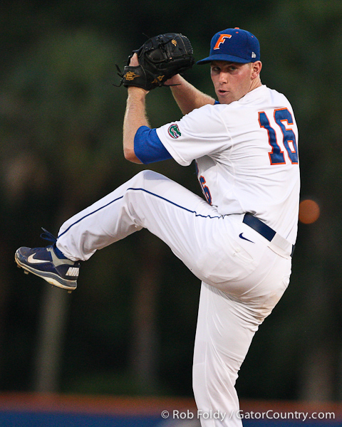 Florida junior pitcher Anthony DeSclafani prepares to deliver a pitch during the Gators' 4-1 victory over the University of North Florida Ospreys on Wednesday, May 11, 2011 at McKethan Stadium in Gainesville, Fla. / photo by Rob Foldy