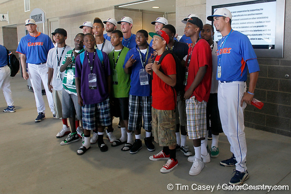 Florida players pose for a photo during the Men's College World Series practice day on Friday, June 17, 2011 at TD Ameritrade Park in Omaha, Neb. / Gator Country photo by Tim Casey