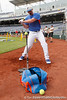 Florida sophomore Austin Maddox hits off of a tee during the Men's College World Series practice day on Friday, June 17, 2011 at TD Ameritrade Park in Omaha, Neb. / Gator Country photo by Tim Casey