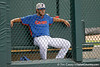 Florida junior pitcher Justin Poovey watches from the bullpen during the Men's College World Series practice day on Friday, June 17, 2011 at TD Ameritrade Park in Omaha, Neb. / Gator Country photo by Tim Casey