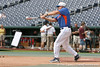 Florida baseball volunteer assistant coach Don Norris hits ground balls during the Men's College World Series practice day on Friday, June 17, 2011 at TD Ameritrade Park in Omaha, Neb. / Gator Country photo by Tim Casey