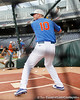 Florida sophomore Austin Maddox bats during the Men's College World Series practice day on Friday, June 17, 2011 at TD Ameritrade Park in Omaha, Neb. / Gator Country photo by Tim Casey