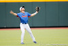 Florida senior Bryson Smith fields a fly ball during the Men's College World Series practice day on Friday, June 17, 2011 at TD Ameritrade Park in Omaha, Neb. / Gator Country photo by Tim Casey