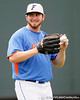 Florida junior pitcher Alex Panteliodis warms up during the Men's College World Series practice day on Friday, June 17, 2011 at TD Ameritrade Park in Omaha, Neb. / Gator Country photo by Tim Casey