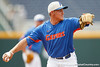 Florida junior infielder Jeff Moyer throws across the diamond during the Men's College World Series practice day on Friday, June 17, 2011 at TD Ameritrade Park in Omaha, Neb. / Gator Country photo by Tim Casey