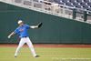 Florida junior outfielder Daniel Pigott throws the ball across the field during the Men's College World Series practice day on Friday, June 17, 2011 at TD Ameritrade Park in Omaha, Neb. / Gator Country photo by Tim Casey