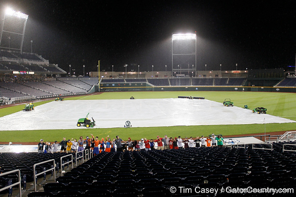 during the Gators' game against the Vanderbilt Commdores in the College World Series on Monday, June 20, 2011 at TD Ameritrade Park in Omaha, Neb. / Gator Country photo by Tim Casey