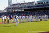 Florida senior Bryson Smith is introduced before the Gators' game against the Texas Longhorns in the College World Series on Saturday, June 18, 2011 at TD Ameritrade Park in Omaha, Neb. / Gator Country photo by Tim Casey