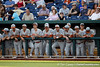 Texas players watch during the Gators' game against the Texas Longhorns in the College World Series on Saturday, June 18, 2011 at TD Ameritrade Park in Omaha, Neb. / Gator Country photo by Tim Casey