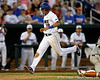 Florida junior outfielder Tyler Thompson scores during the Gators' 8-4 win against the Texas Longhorns in the College World Series on Saturday, June 18, 2011 at TD Ameritrade Park in Omaha, Neb. / Gator Country photo by Tim Casey