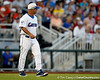 Florida baseball head coach Kevin O'Sullivan walks on the field during the Gators' 8-4 win against the Texas Longhorns in the College World Series on Saturday, June 18, 2011 at TD Ameritrade Park in Omaha, Neb. / Gator Country photo by Tim Casey