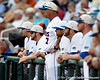 Florida baseball head coach Kevin O'Sullivan watches from the dugout during the Gators' game against the Texas Longhorns in the College World Series on Saturday, June 18, 2011 at TD Ameritrade Park in Omaha, Neb. / Gator Country photo by Tim Casey