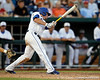Florida sophomore shortstop Nolan Fontana follows through on a swing during the Gators' 8-4 win against the Texas Longhorns in the College World Series on Saturday, June 18, 2011 at TD Ameritrade Park in Omaha, Neb. / Gator Country photo by Tim Casey
