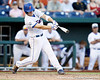 Florida junior outfielder Daniel Pigott grounds out to second base during the Gators' 8-4 win against the Texas Longhorns in the College World Series on Saturday, June 18, 2011 at TD Ameritrade Park in Omaha, Neb. / Gator Country photo by Tim Casey
