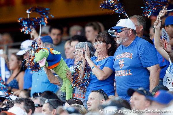 Florida fans cheer during the Gators' game against the Texas Longhorns in the College World Series on Saturday, June 18, 2011 at TD Ameritrade Park in Omaha, Neb. / Gator Country photo by Tim Casey