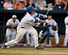 Florida sophomore catcher Mike Zunino follows through on a swing during the Gators' 8-4 win against the Texas Longhorns in the College World Series on Saturday, June 18, 2011 at TD Ameritrade Park in Omaha, Neb. / Gator Country photo by Tim Casey