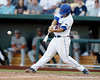 Florida junior Preston Tucker hits a double during the Gators' game against the Texas Longhorns in the College World Series on Saturday, June 18, 2011 at TD Ameritrade Park in Omaha, Neb. / Gator Country photo by Tim Casey