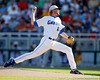 Florida sophomore pitcher Hudson Randall throws a pitch during the Gators' game against the Texas Longhorns in the College World Series on Saturday, June 18, 2011 at TD Ameritrade Park in Omaha, Neb. / Gator Country photo by Tim Casey