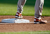 A Texas player stands on third base during the Gators' game against the Texas Longhorns in the College World Series on Saturday, June 18, 2011 at TD Ameritrade Park in Omaha, Neb. / Gator Country photo by Tim Casey